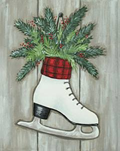 Ice Skate With Evergreen