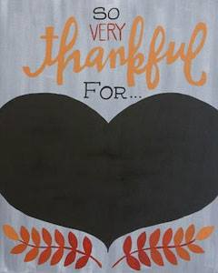 Thankful For (Chalkboard)