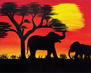 African Safari With Elephants