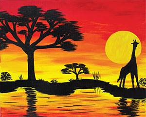 African Safari with Giraffe