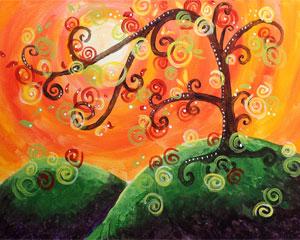 Whimsical Tree I