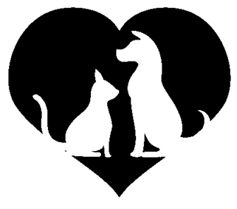 Cat And Dog Inside Heart