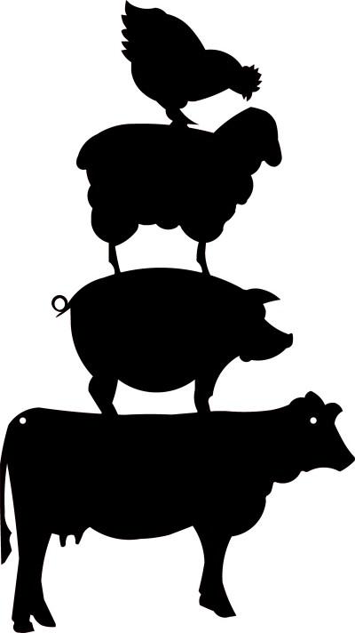 Farm Animals Totem