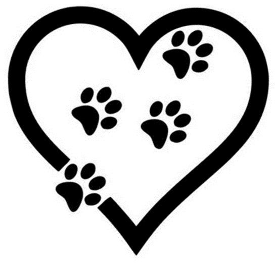 Heart with Paw Prints
