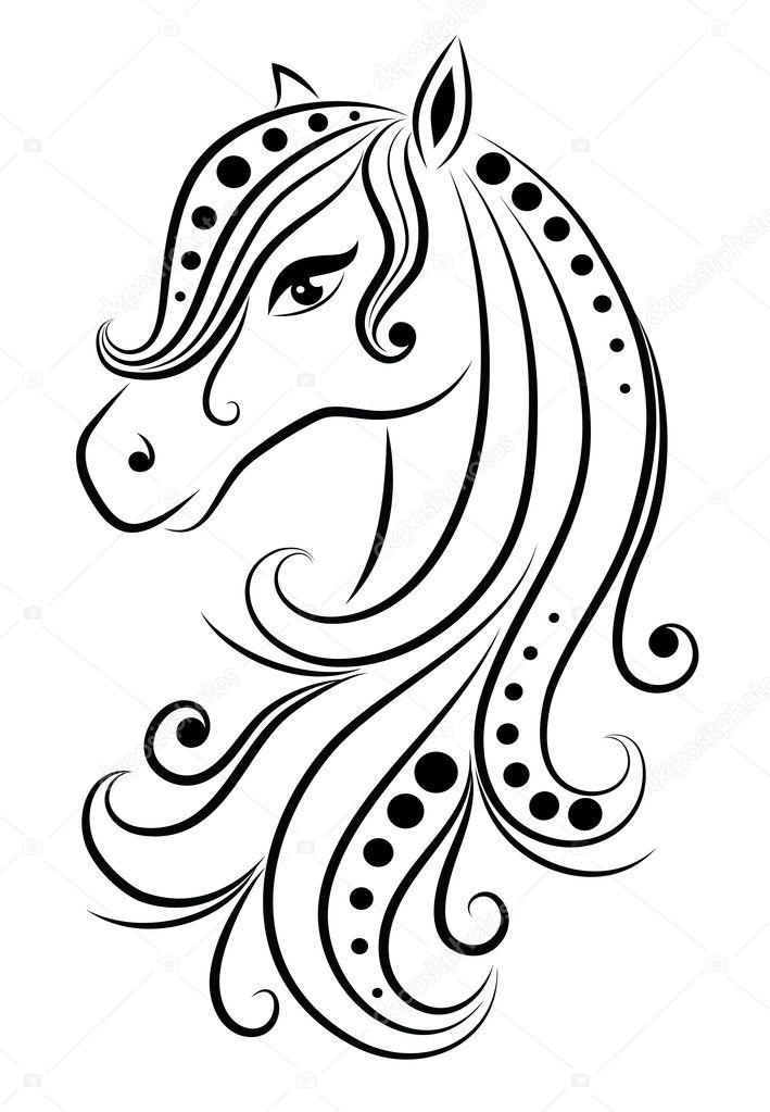 Horse With Mandala Mane